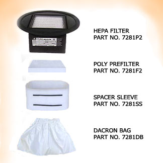 HEPA FILTER ASSEMBLY to replace Pullman-Holt P/N B526520